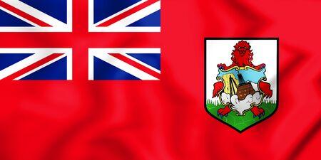 3D Flag of Bermuda. 3D Illustration.