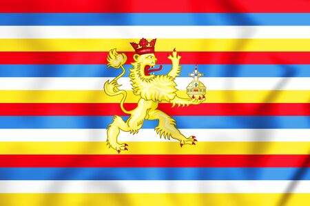 former: County Palatine of the Rhine Flag, Electoral Palatinate. 3D Illustration.