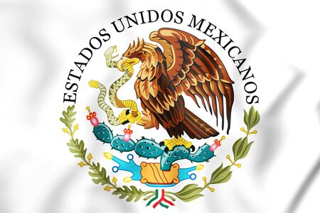 Federal Government of Mexico Seal. 3D Illustration. Stock Photo