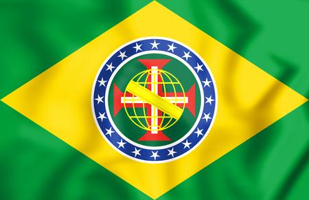 New Imperial Flag of Brazil. 3D Illustration.