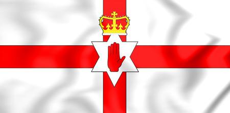 3D Flag of Northern Ireland. 3D Illustration.