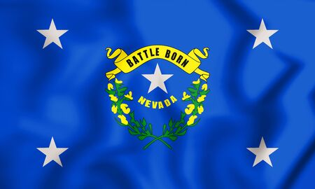 3D Standard of the Governor of Nevada, USA. 3D Illustration. Stock Photo