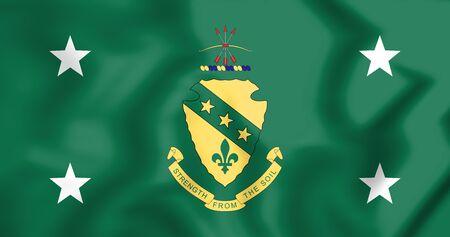Standard of the Governor of North Dakota, USA. 3D Illustration.
