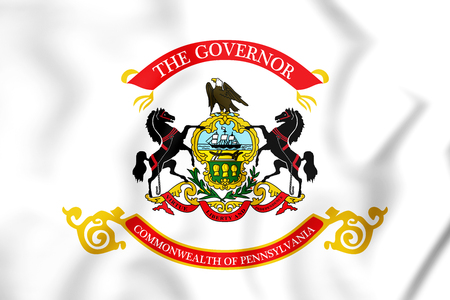 Standard of the Governor of Pennsylvania, USA. 3D Illustration.