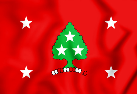 Standard of the Governor of Tennessee, USA. 3D Illustration.