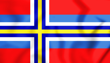 proposed: 3D Flag of the Scandinavia (proposed). 3D Illustration.