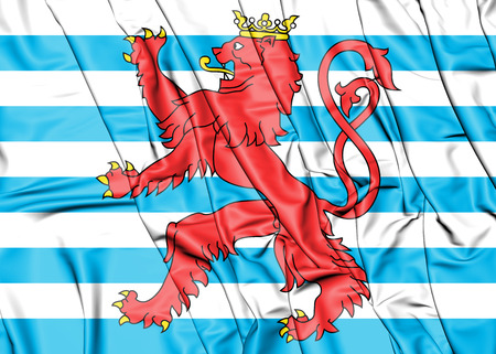 3D Civil Ensign of Luxembourg. 3D Illustration.