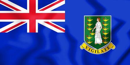 3D Flag of the British Virgin Islands. 3D Illustration.
