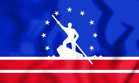 3D Flag of Richmond (Virginia), USA. 3D Illustration. Stock Photo
