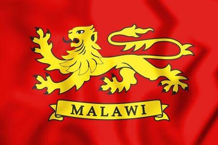 malawian flag: 3D Standard of the President of Malawi. 3D Illustration.