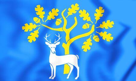 Flag of the Berkshire, England. 3D Illustration.