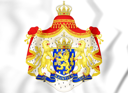 Greater Coat of Arms of the Netherlands. 3D Illustration.