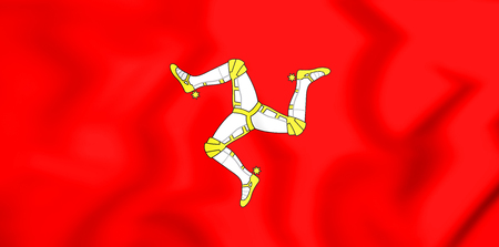 3D Flag of Isle of Man. 3D Illustration.