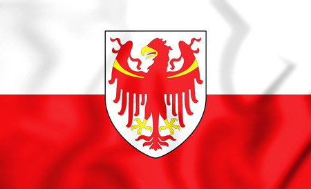 tyrol: 3D Flag of South Tyrol, Italy. 3D Illustration.