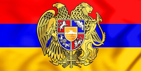3D Flag of the Armenia. 3D Illustration.