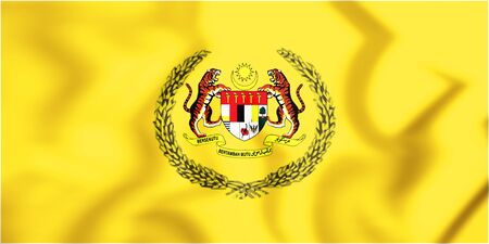 3D Supreme Head of Malaysia Flag. 3D Illustration.