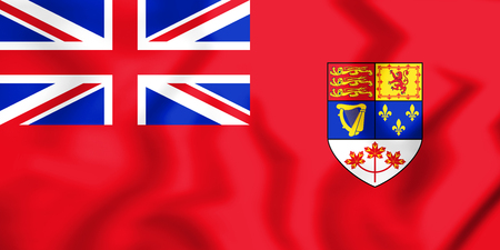 Canadian Red Ensign (1957-1965). 3D Illustration. Фото со стока