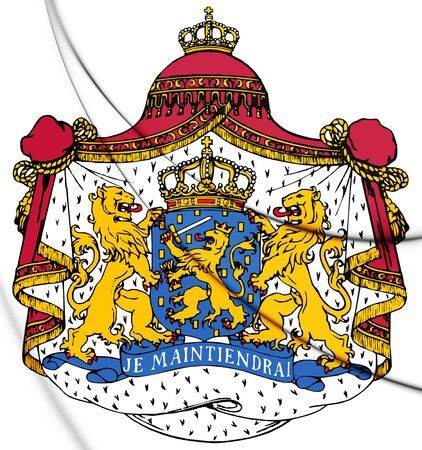 Coat of Arms of the Netherlands. 3D Illustration. Stock Photo