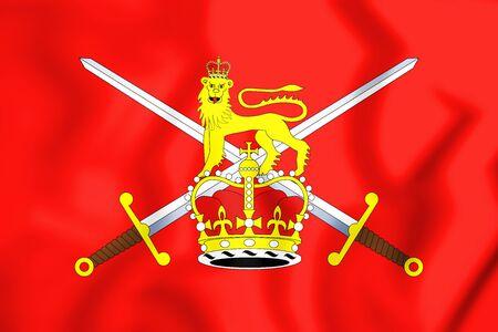 3D Flag of British Army. 3D Illustration.
