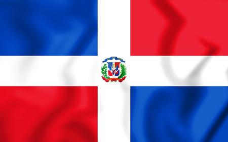 3D Flag of Dominican Republic. 3D Illustration. Stock Photo