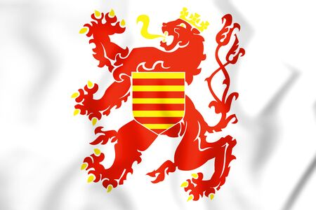 limburg: 3D Flag of Limburg Province, Belgium. 3D Illustration.