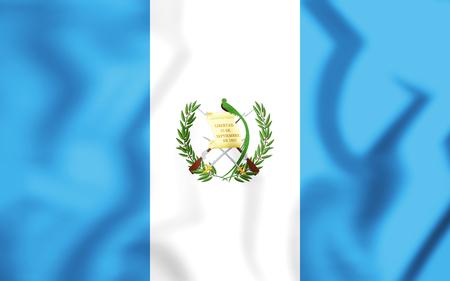 3D Flag of the Guatemala. 3D Illustration. Stock Photo