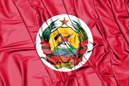 3D Presidential Standard of Mozambique. 3D Illustration. Stock Photo
