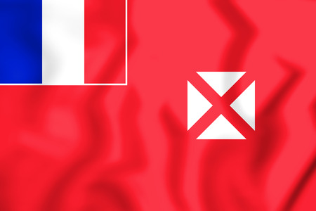 3D Flag of Wallis And Futuna. 3D Illustration. Stock Photo