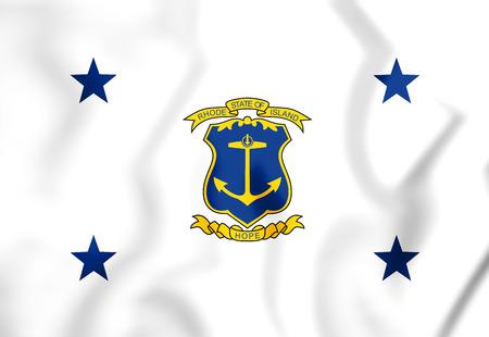 3D Standard of the Governor of Rhode Island. 3D Illustration.