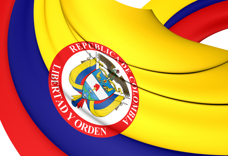 3D President of Colombia standard. 3D Illustration.
