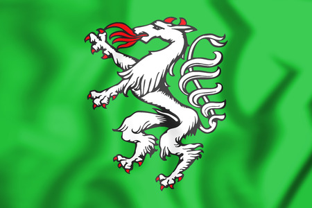 Styrian Banner of Arms, Austria. 3D Illustration.