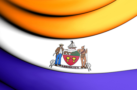 albany: 3D Flag of Albany (New York State), USA. 3D Illustration.