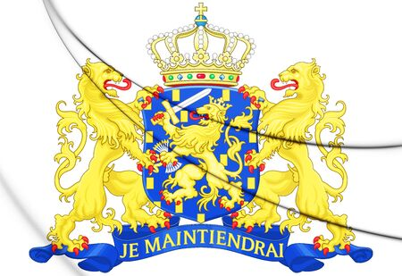 3D Coat of Arms of Netherlands. 3D Illustration.
