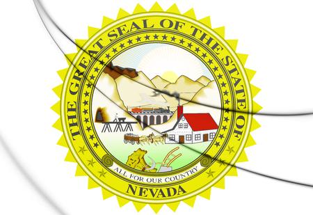 3D State Seal of Nebraska, USA. 3D Illustration.