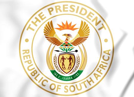 rsa: President of South Africa Seal. 3D Illustration.