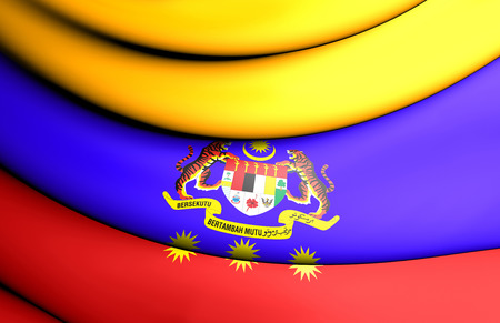 3D Flag of Federal Territories of Malaysia. 3D Illustration