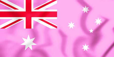 Gay Pride Flag of Australia. 3D Illustration.