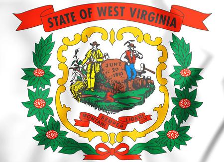 West Virginia coat of arms, USA. 3D Illustration. Stock Illustration - 79766845