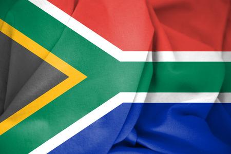 rsa: 3D Flag of the South Africa. 3D Illustration.