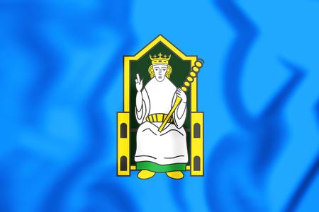 3D Flag of Mide, Ireland. 3D Illustration.