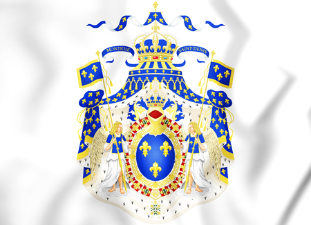 Royal Coat of Arms of France. 3D Illustration.   Stock Photo