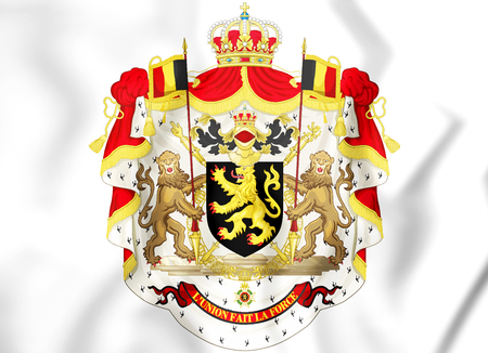 3D Belgium Coat of Arms. 3D Illustration.