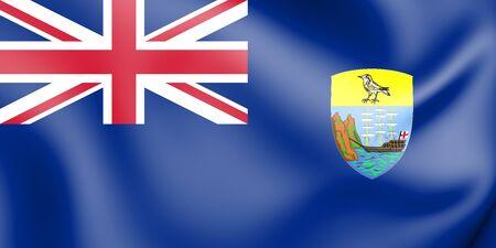 helena: 3D Flag of the Saint Helena. 3D Illustration. Stock Photo