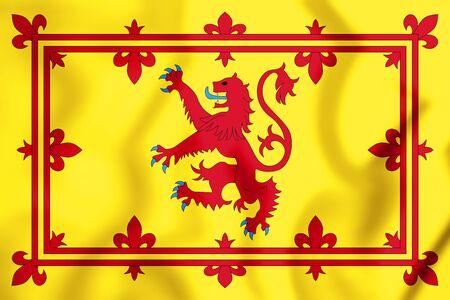 3D Royal Standard of Scotland. Illustrazione 3D. Archivio Fotografico - 81116309
