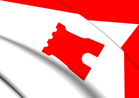 3D Flag of Etten-Leur, Netherlands. 3D Illustration. Stock Photo