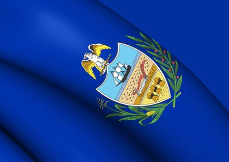 3D Flag of Allegheny County (Pennsylvania), USA. 3D Illustration. Stock Photo