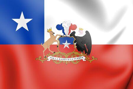 Presidente 3D de Chile Standard. Ilustración 3D.