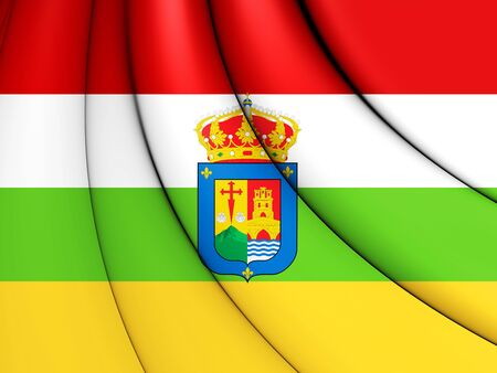 3D Flag of La Rioja, Spain. 3D Illustration. Stock Photo