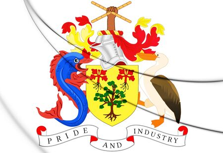 3D Barbados Coat of Arms. 3D Illustration.