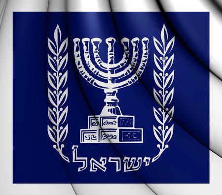 3D Presidential Standard of Israel. 3D Illustration.